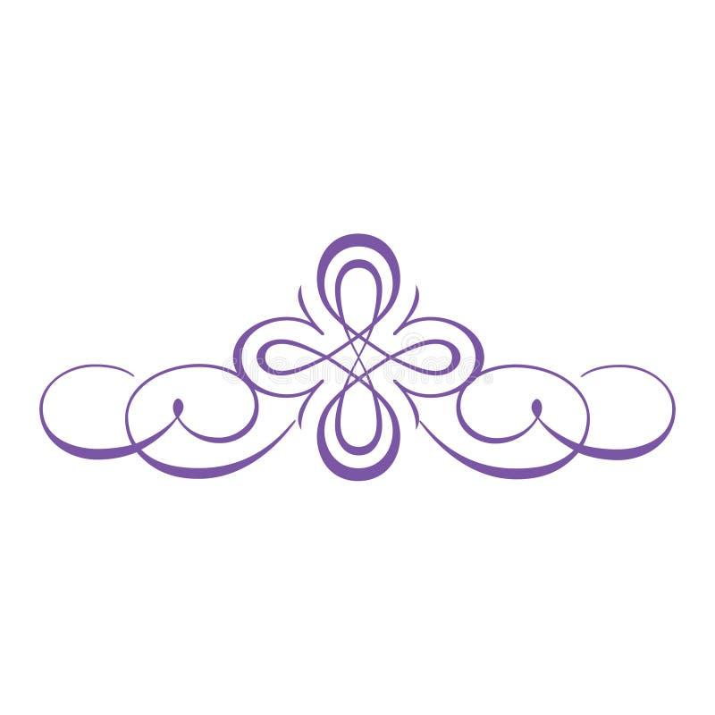 典雅的漩涡商标框架边界 向量例证