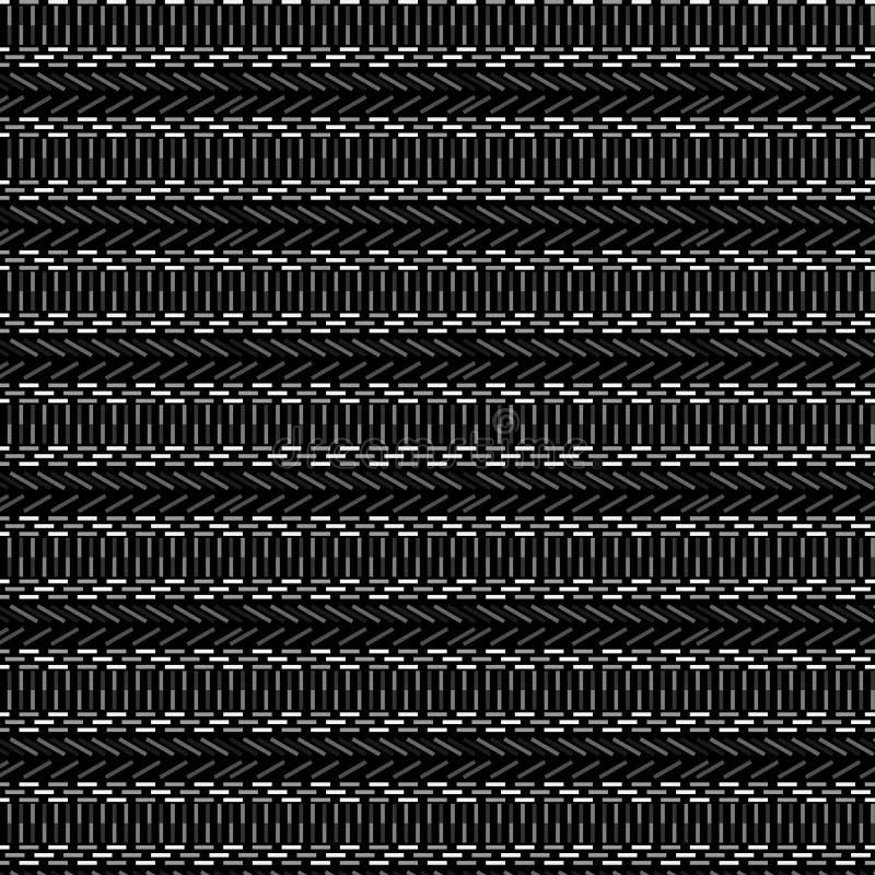 典雅的灰色单色种族几何无缝的样式 皇族释放例证