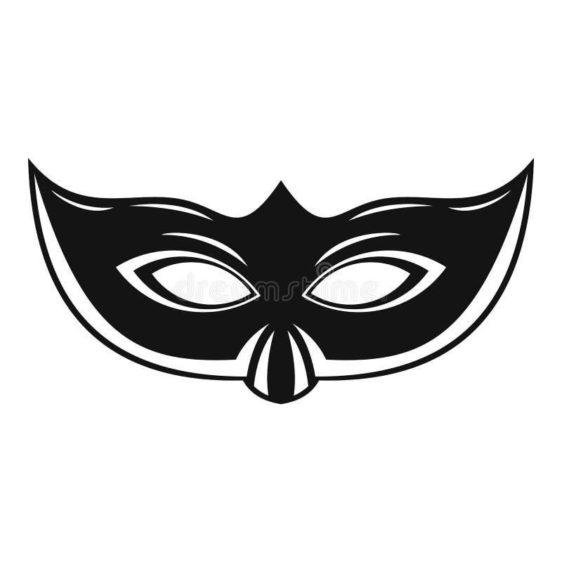 典雅的狂欢节面具象,简单的样式 库存例证
