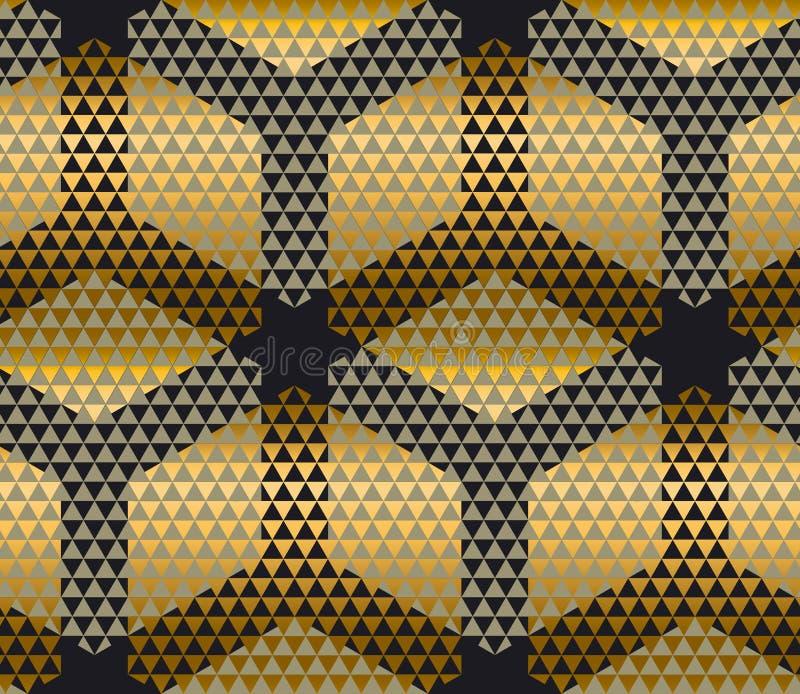 典雅的现代创造性的几何背景 库存例证