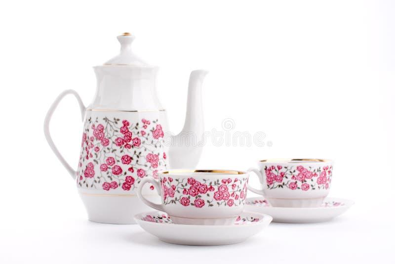 典雅的瓷集合茶 免版税库存图片