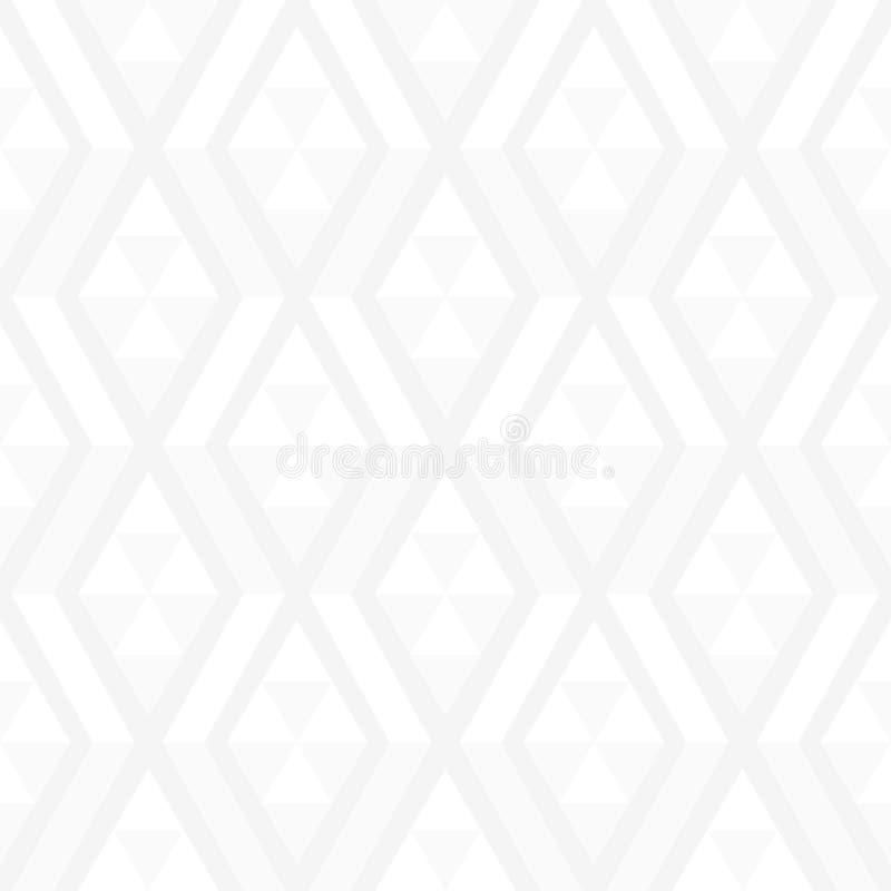 典雅的白色几何形状无缝的样式 向量例证