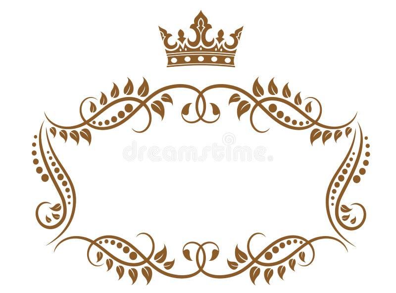 典雅的皇家中世纪框架 皇族释放例证