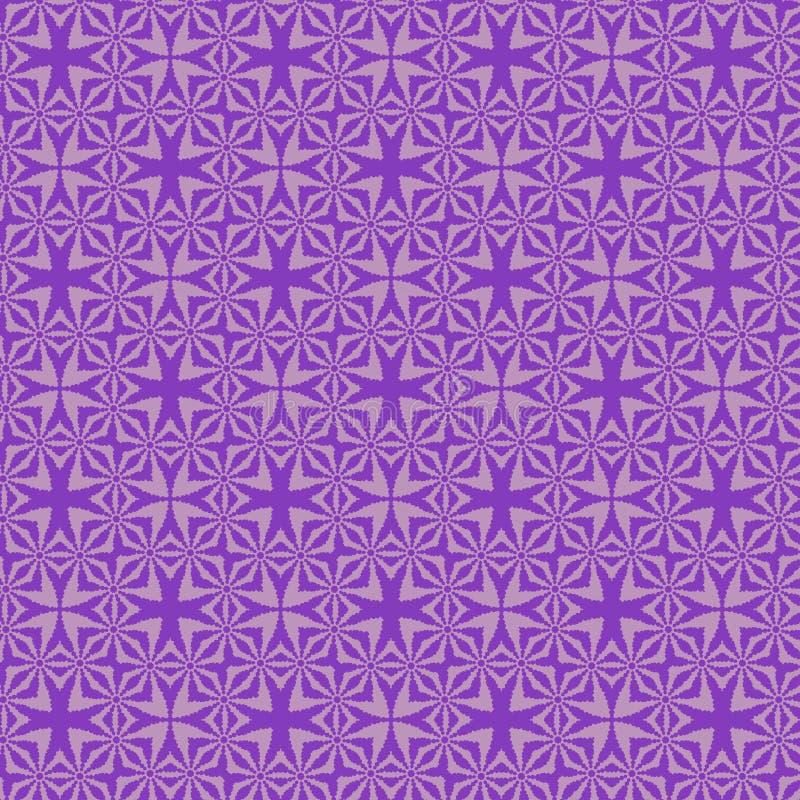 典雅的紫罗兰色无缝的装饰几何样式 向量例证