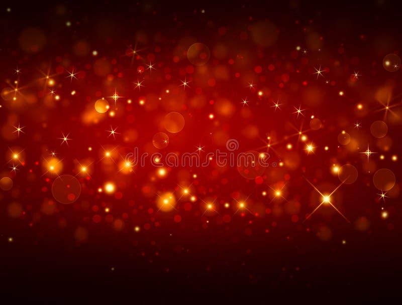 典雅的红色欢乐背景 皇族释放例证