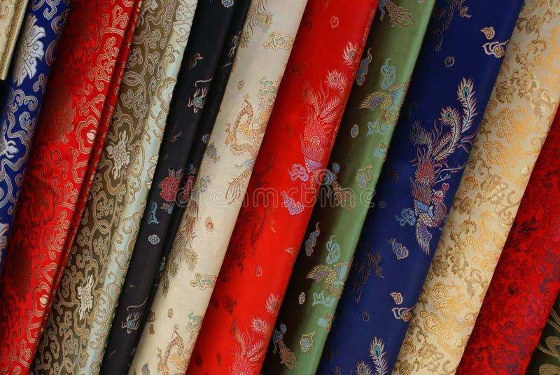 典雅的织品丝绸 图库摄影