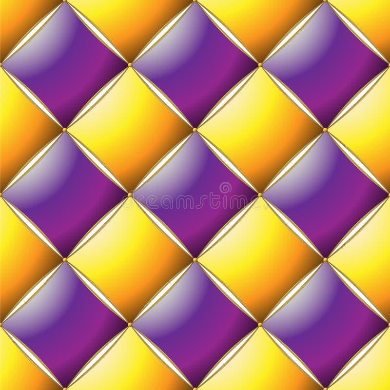 典雅的缝制的样式Vip紫色、黄色和金线背景  皇族释放例证