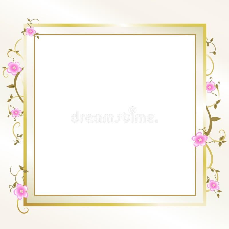 典雅的花卉框架 库存例证