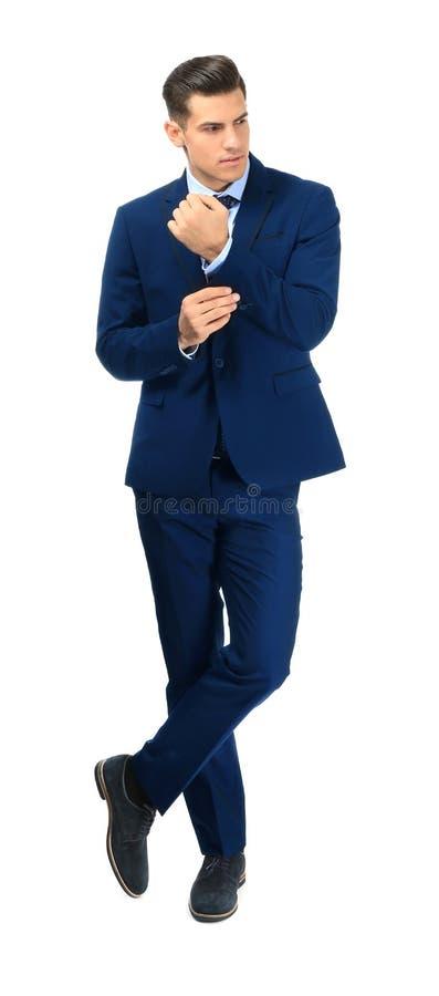 典雅的衣服的英俊的人 免版税图库摄影
