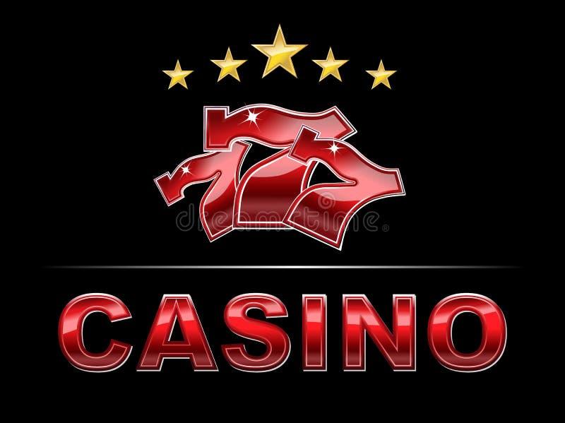 典雅的赌博娱乐场商标 皇族释放例证