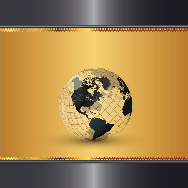 典雅的金世界 向量例证