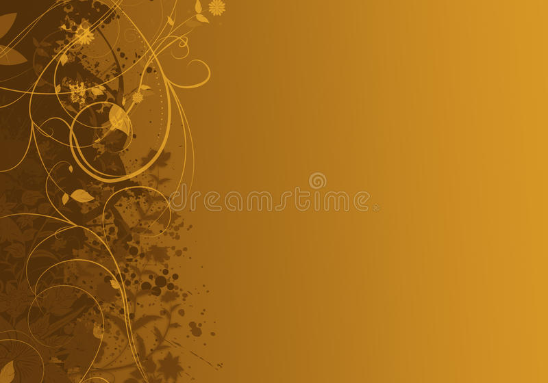 典雅的金黄抽象背景设计 向量例证
