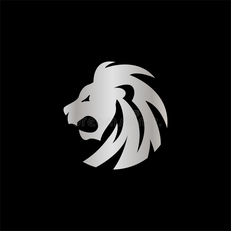 典雅的银色狮子冠设计观念 皇族释放例证