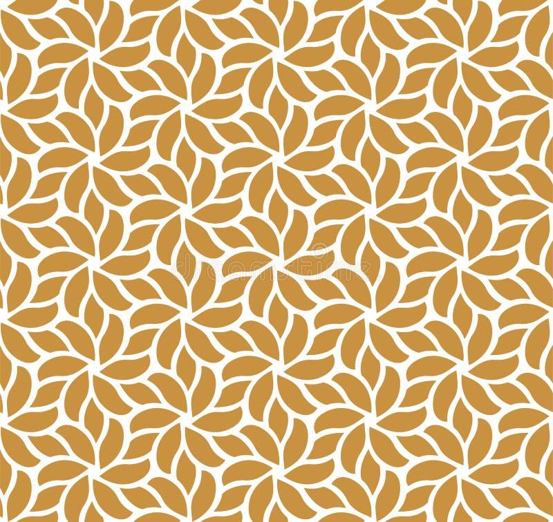 典雅的锦缎花卉传染媒介无缝的样式 装饰花例证 抽象派Deco背景 库存例证