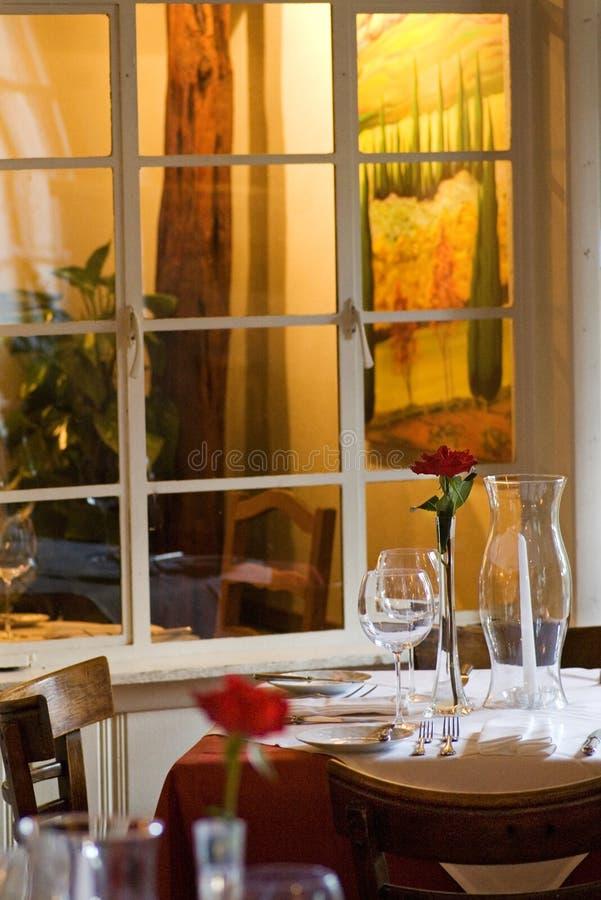典雅的餐馆表 库存图片