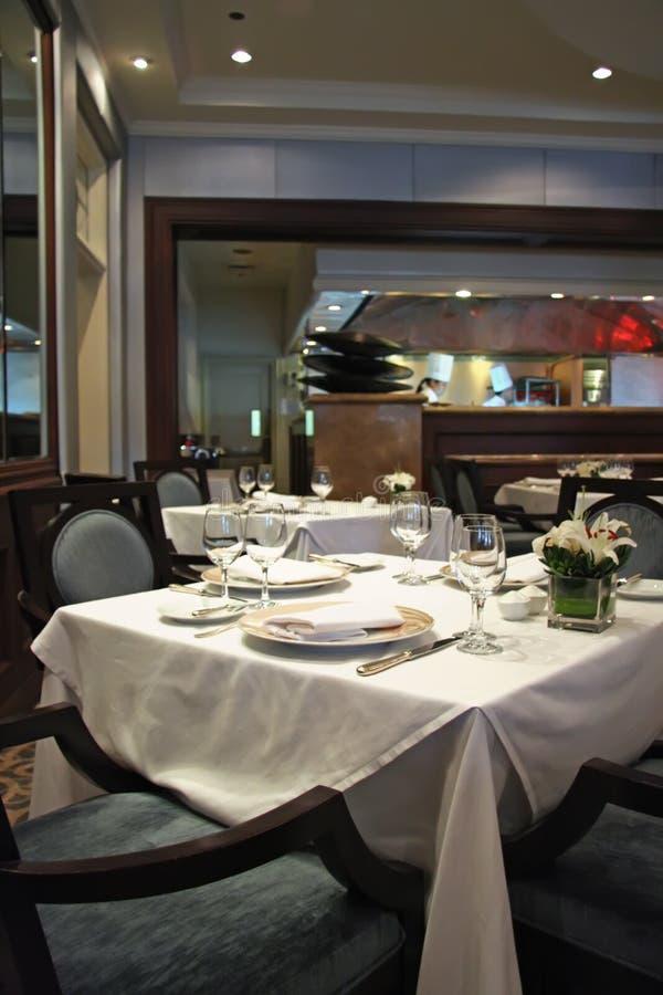 典雅的餐馆 库存图片