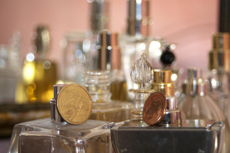 典雅的flagrance和香水 库存照片