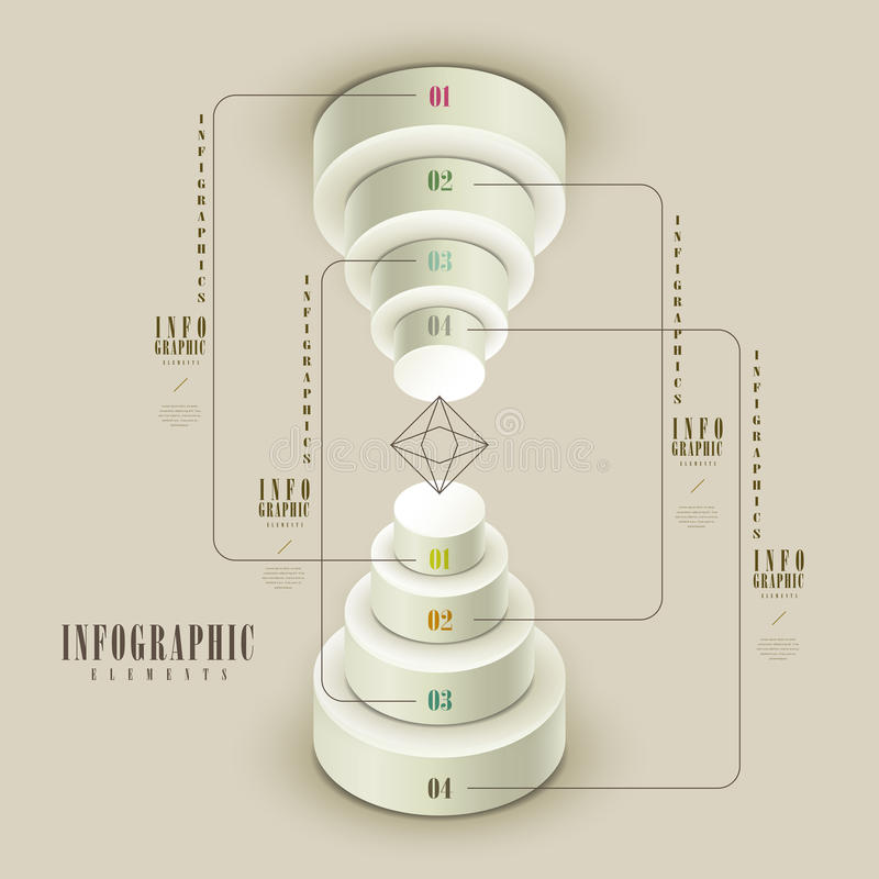 典雅的infographic模板 皇族释放例证