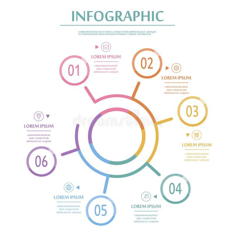 典雅的infographic模板 库存例证