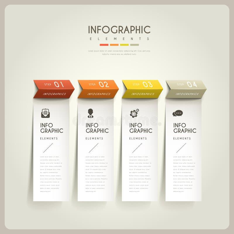 典雅的infographic设计 向量例证
