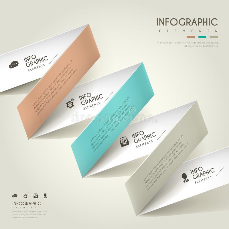 典雅的infographic设计 皇族释放例证