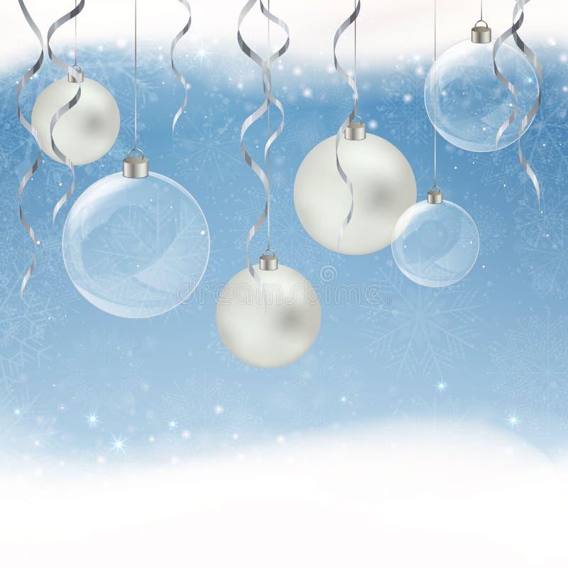 典雅背景的圣诞节 库存例证
