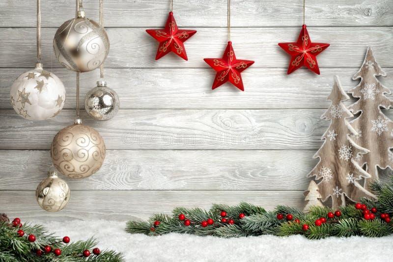 典雅背景的圣诞节 免版税库存照片