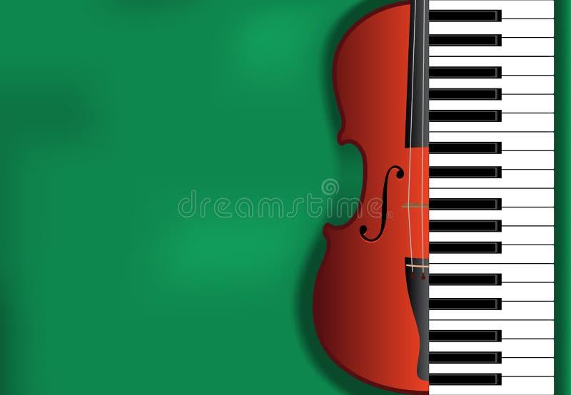 经典音乐背景 向量例证