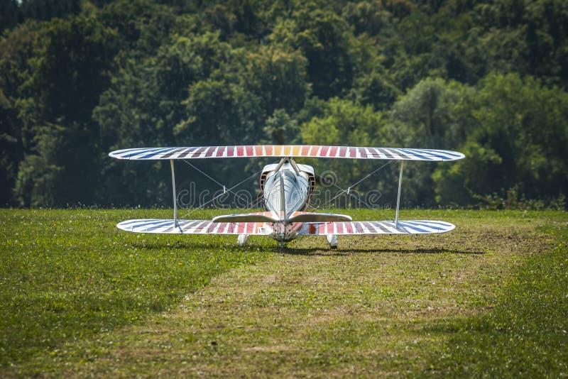 经典飞机-双翼飞机 库存照片
