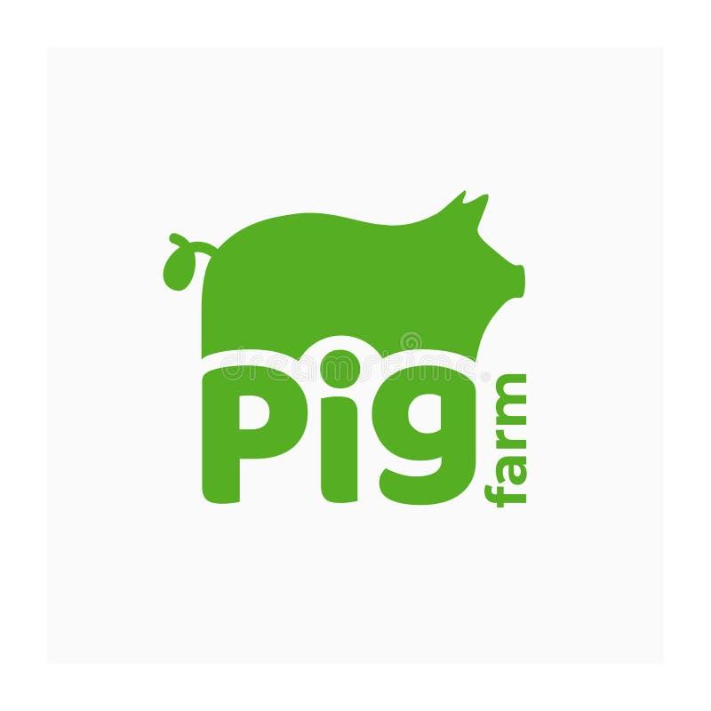 养猪场象 大农场的身分 向量例证