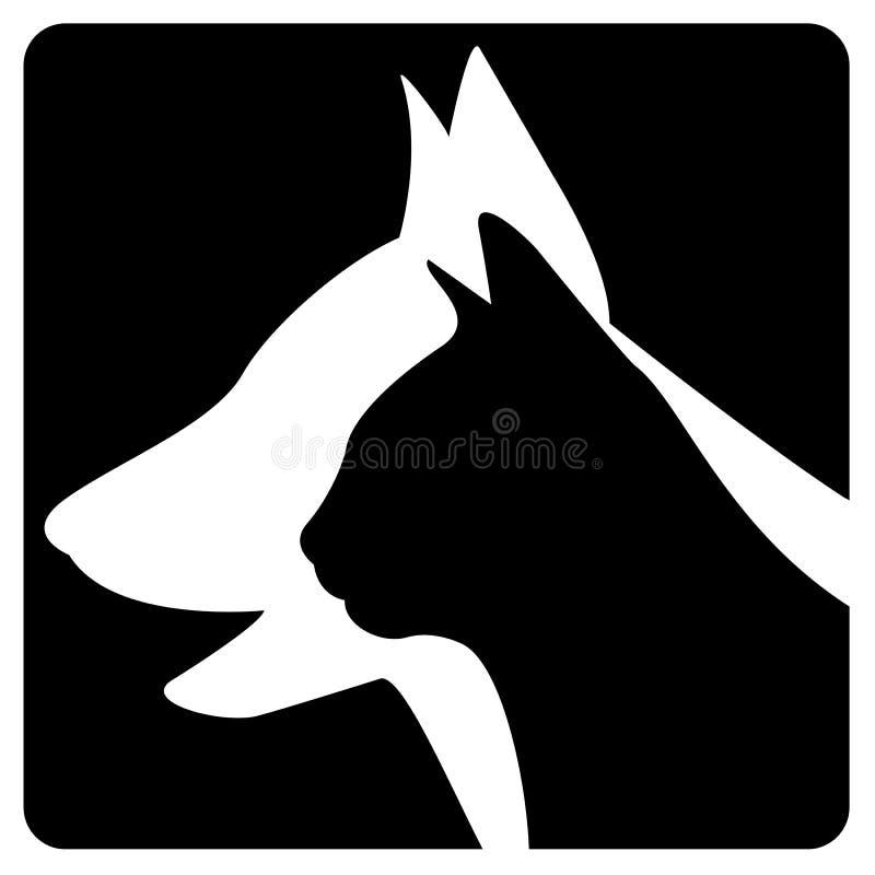 兽医徽标 向量例证