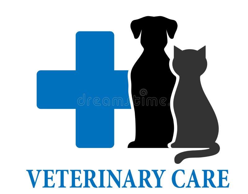 兽医关心标志 皇族释放例证