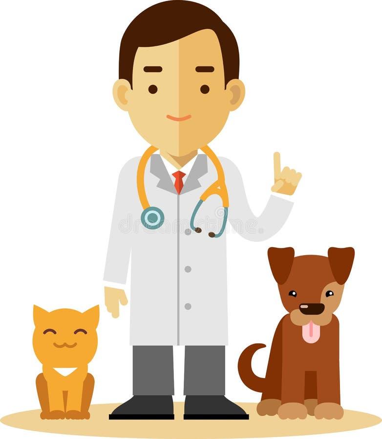 download 兽医医生,狗和猫 库存例证.