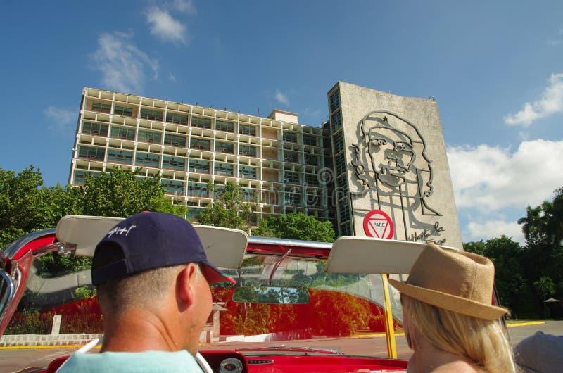 内务部在广场de la Revolucion哈瓦那古芝的 免版税库存图片