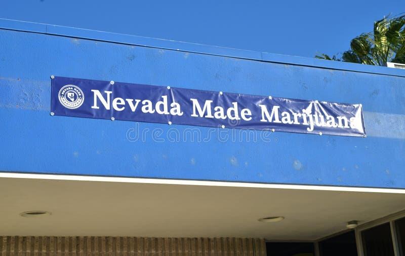 内华达做了大麻消遣销售防治所 库存图片