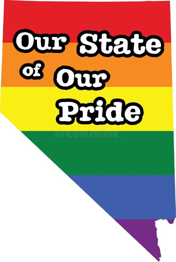 内华达同性恋自豪日传染媒介状态标志 向量例证