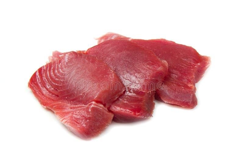 内圆角新鲜的金枪鱼 免版税库存图片
