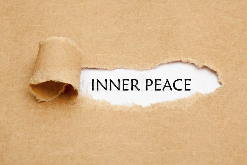 内在和平被剥去的纸概念 免版税库存图片