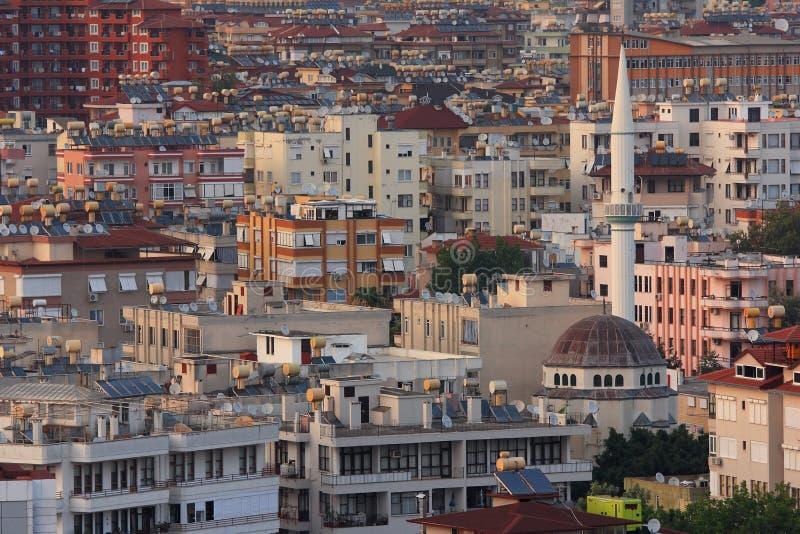 从内在城堡的看法,阿拉尼亚,土耳其 夏天 图库摄影