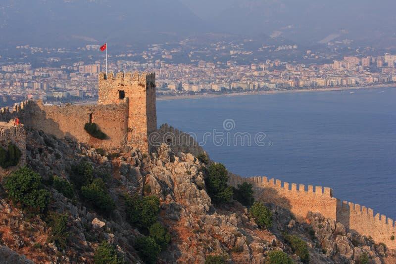 从内在城堡(集成电路无头甘蓝)的看法,阿拉尼亚 火鸡 图库摄影