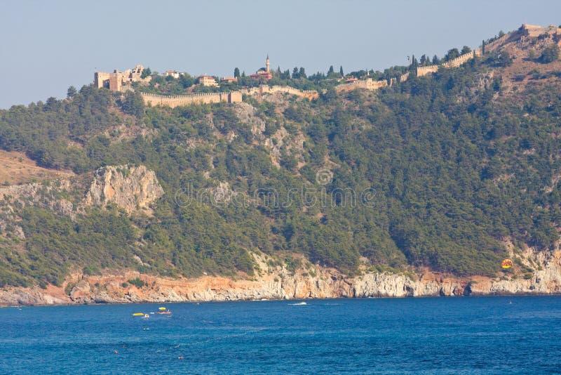 内在城堡(集成电路无头甘蓝), Alanya,土耳其 免版税图库摄影
