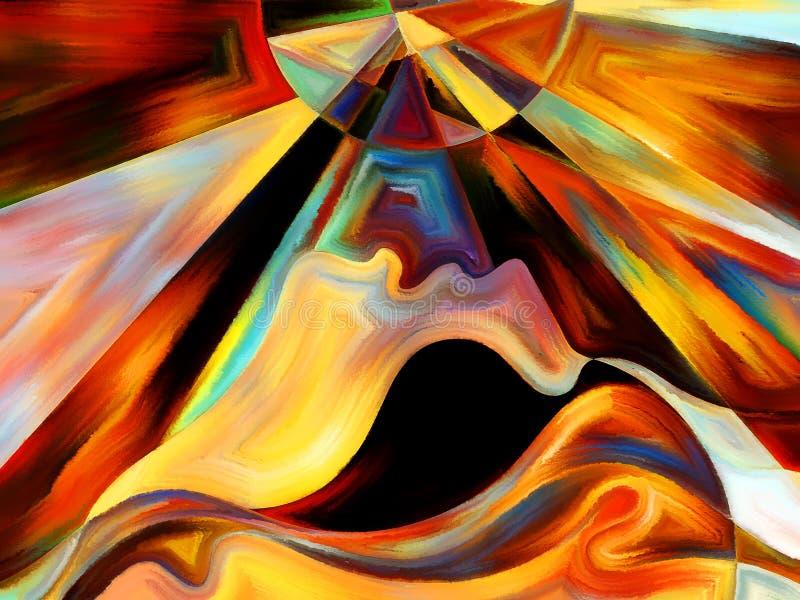 内在油漆抽象 向量例证