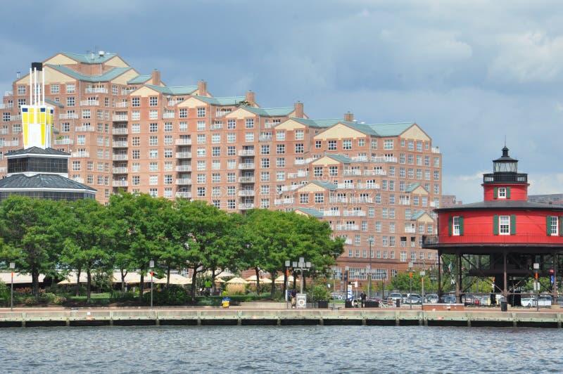 内在港口在巴尔的摩,马里兰 免版税图库摄影
