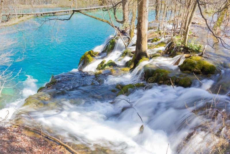 内在瀑布在Plitvice 免版税库存照片