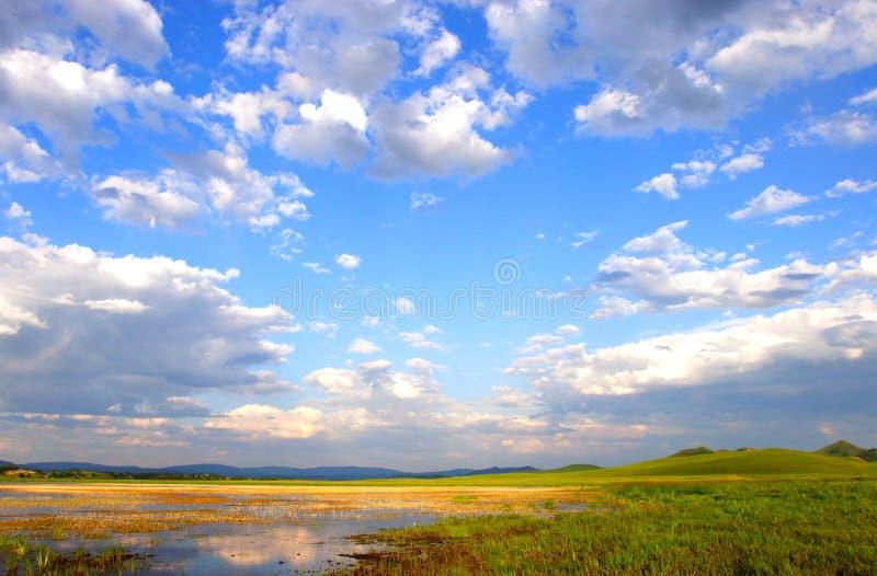 内在蒙古大草原天空 免版税库存图片