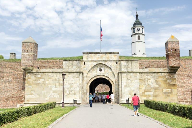 内在Stambol门, Belgrad堡垒,塞尔维亚 免版税图库摄影