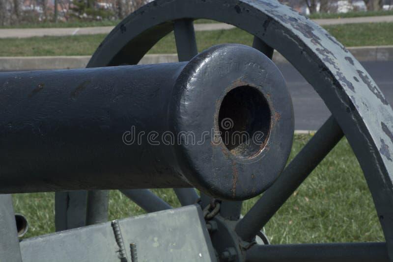 内战大炮细节 免版税库存照片
