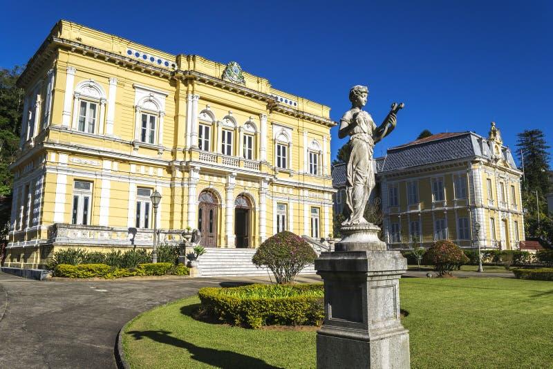 内格罗河宫殿-巴西总统的正式夏天住所 免版税库存照片