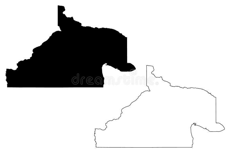 内格罗河省地图传染媒介 库存例证