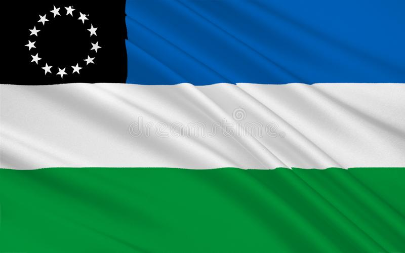 内格罗河省旗子是一个省在阿根廷 向量例证